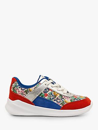 Mini Boden Colourblock Trainers, Ivory Spring Floral