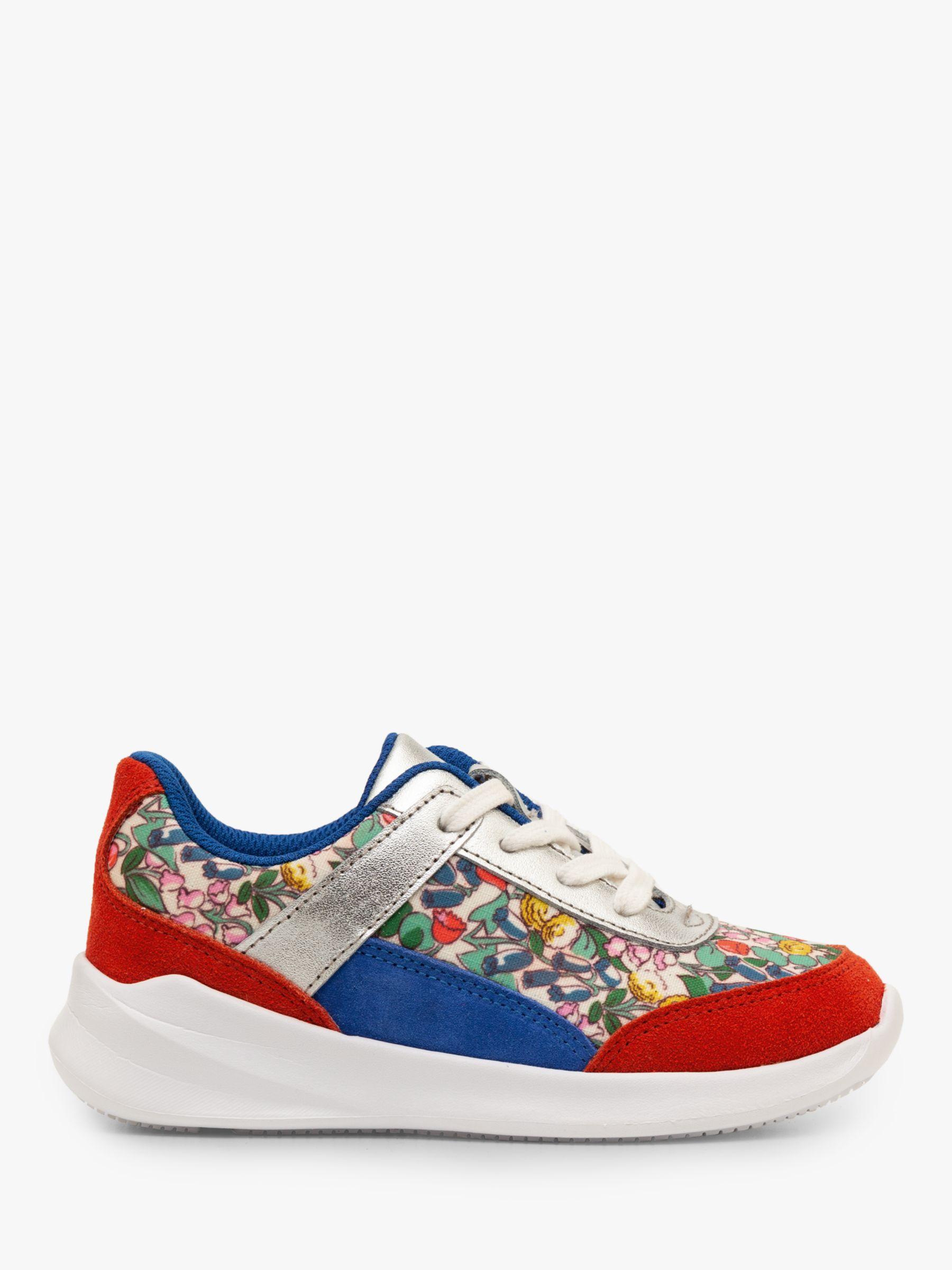 Mini Boden Mini Boden Colourblock Trainers, Ivory Spring Floral