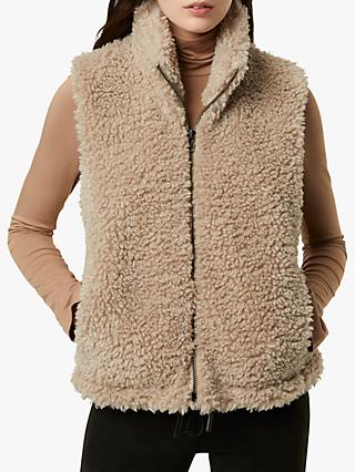 French Connection Fabi Faux Sherpa Gilet, Natural