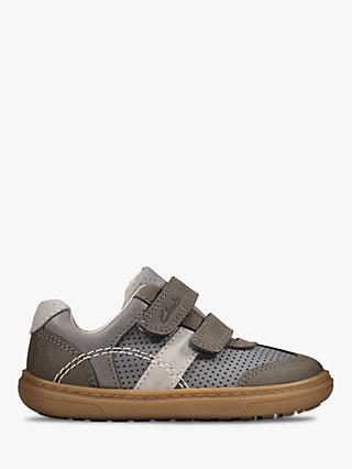 Clarks Junior Flash Metra Riptape Trainers