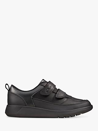 Clarks Junior Scape Flare School Shoes, Black