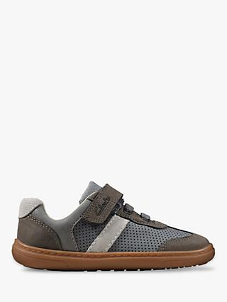 Clarks Junior Flash Step Riptape Trainers