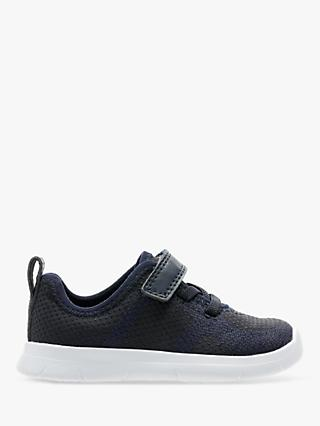 Clarks Children's Ath Flux Riptape Trainers, Navy