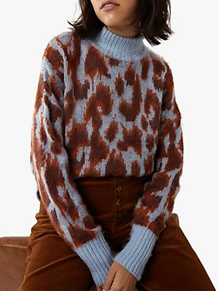Warehouse Brushed Animal Jumper, Animal