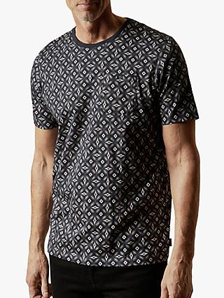 Ted Baker T for Tall Landtt Geo Print T-Shirt, Navy