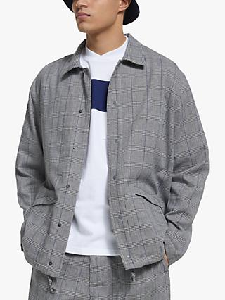 Garbstore Prince of Wales Check Crammer Jacket, Grey