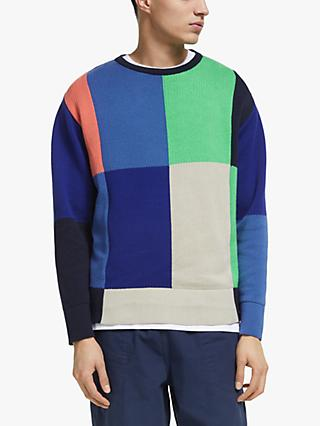 Garbstore The English Difference Cut and Sew Crew Neck Knit, Combo D