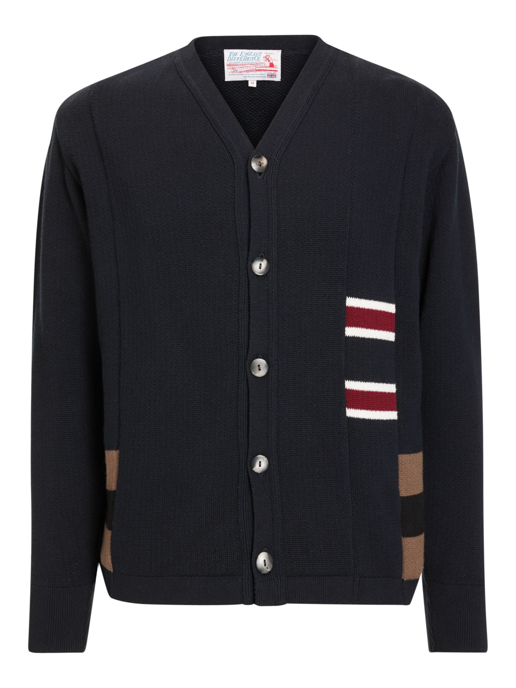 Buy Garbstore The English Difference Rework Cardigan, Navy/White, S Online at johnlewis.com