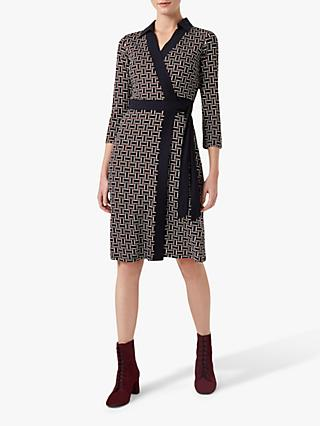 Hobbs Ginny Dress, Navy/Multi