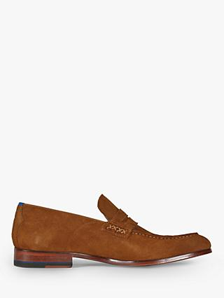 Oliver Sweeney Bibury Suede Loafers, Whiskey