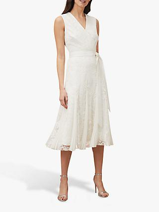 Phase Eight Caterina Embroidered Wedding Dress, Pale Cream