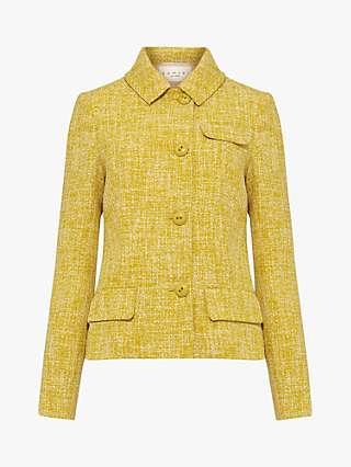 Damsel in a Dress Demelza Tweed Jacket, Yellow