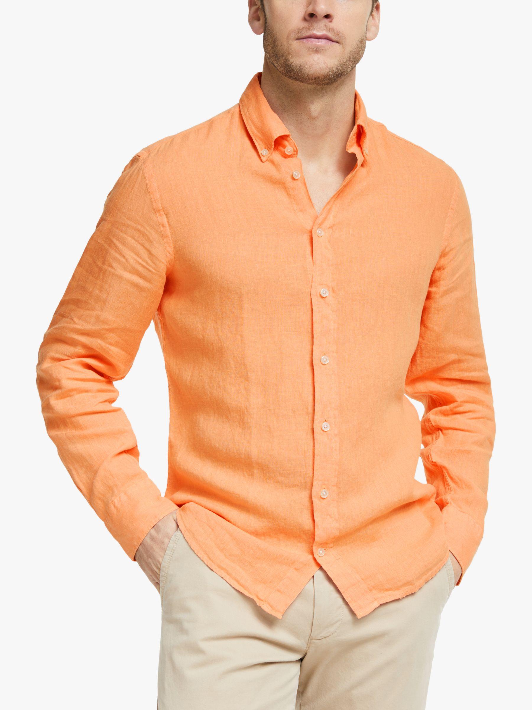 Hackett London Hackett London Garment Dyed Linen Shirt