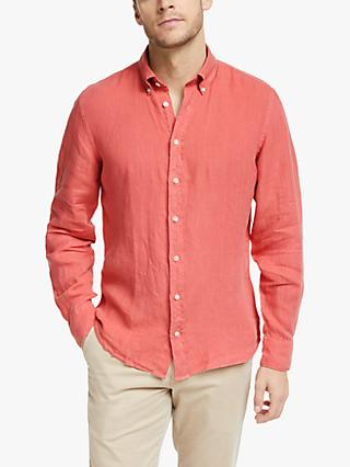 Hackett London Garment Dyed Linen Shirt