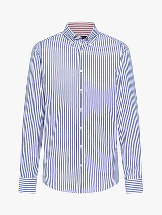 Hackett London Double Sided Striped Butcher Shirt