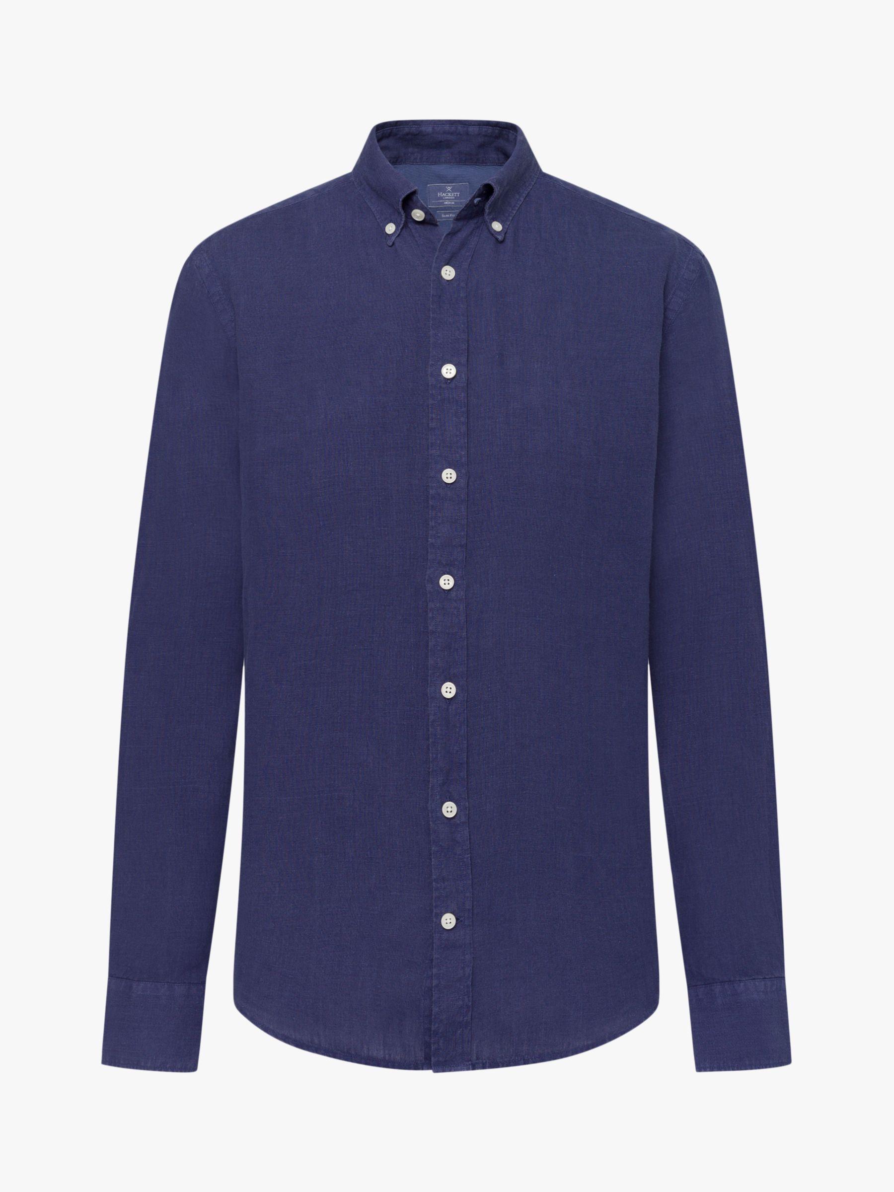 Hackett London Hackett London Yarn Dyed Linen Shirt