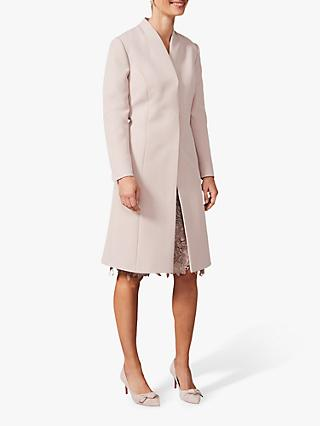 Phase Eight Constanza Concealed Button Coat, Taupe