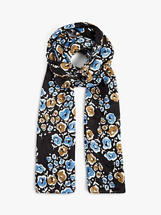 Jigsaw Graphic Poppy Silk Scarf