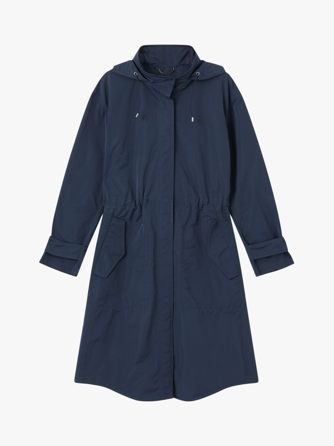 Jigsaw Lightweight Hooded Parka, French Navy