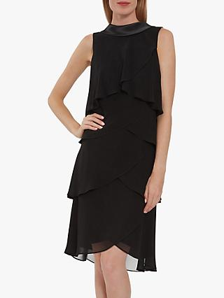 Gina Bacconi Halona Tiered Chiffon Dress