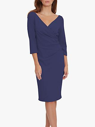 Gina Bacconi Keelia Crepe Wrap Dress