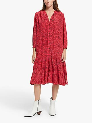 AND/OR Josie Floral Shirt Dress, Red