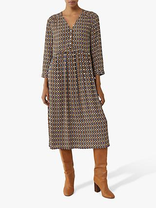 Warehouse Geo Print Smock Dress, Muti