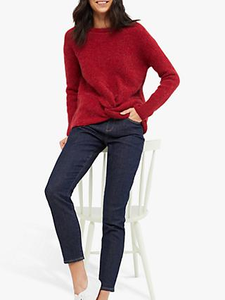 White Stuff Wool Blend Twist Front Rib Jumper