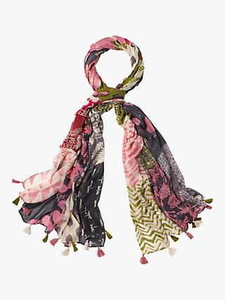 White Stuff Margot Printed Scarf, Acre Pink