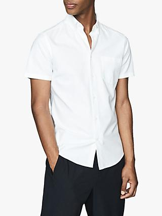 Reiss Key Regular Fit Short Sleeve Cotton Shirt