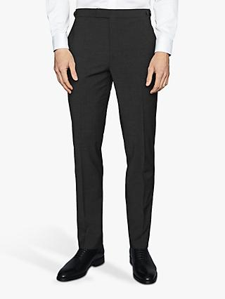 Reiss Hope Modern Fit Travel Suit Trousers, Charcoal