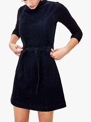 Oasis Cord Tie Waist Shift Dress, Navy
