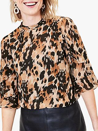 Oasis Smudge Print Blouse, Multi