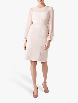 Hobbs Mila Dress, Pale Pink