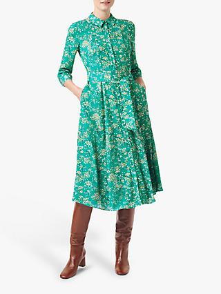 Hobbs Lillian Shirt Dress, Meadow Green