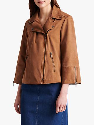 Gerard Darel Gavina Leather Jacket, Brown