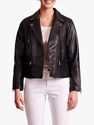 Gerard Darel Giulia Leather Jacket, Black