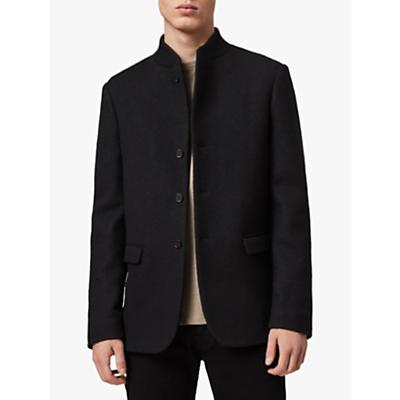 AllSaints Warrick Wool Blend Blazer, Black