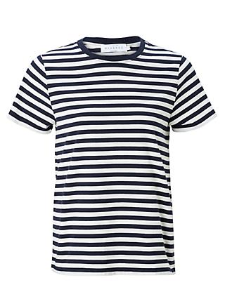 Collection WEEKEND by John Lewis Short Sleeve Breton Stripe T-Shirt, Navy/White