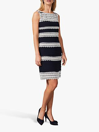 Phase Eight Priyanka Layered Dress, Navy/Ivory