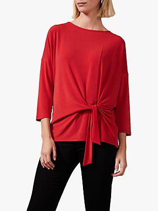 Phase Eight Tazanna Tie Front Top, Red