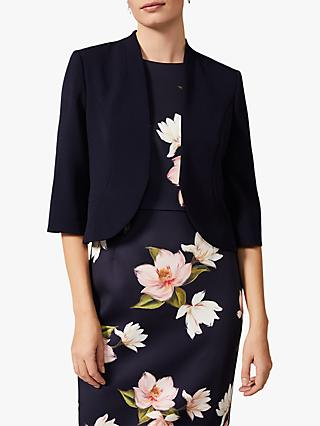 Phase Eight Tammy Three-Quarter Sleeve Jacket, Navy
