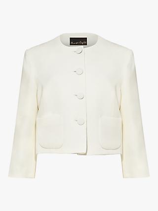 Phase Eight Catarine Collarless Tailored Jacket, Ivory