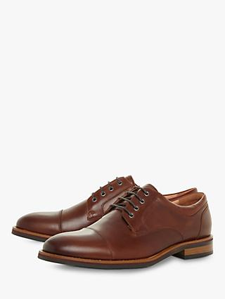 Bertie Stains Leather Derby Shoes, Tan