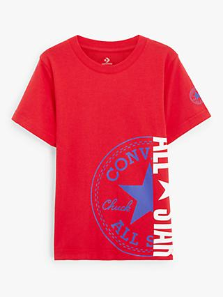 Converse Boys' All Star Split Graphic Print T-Shirt, Red