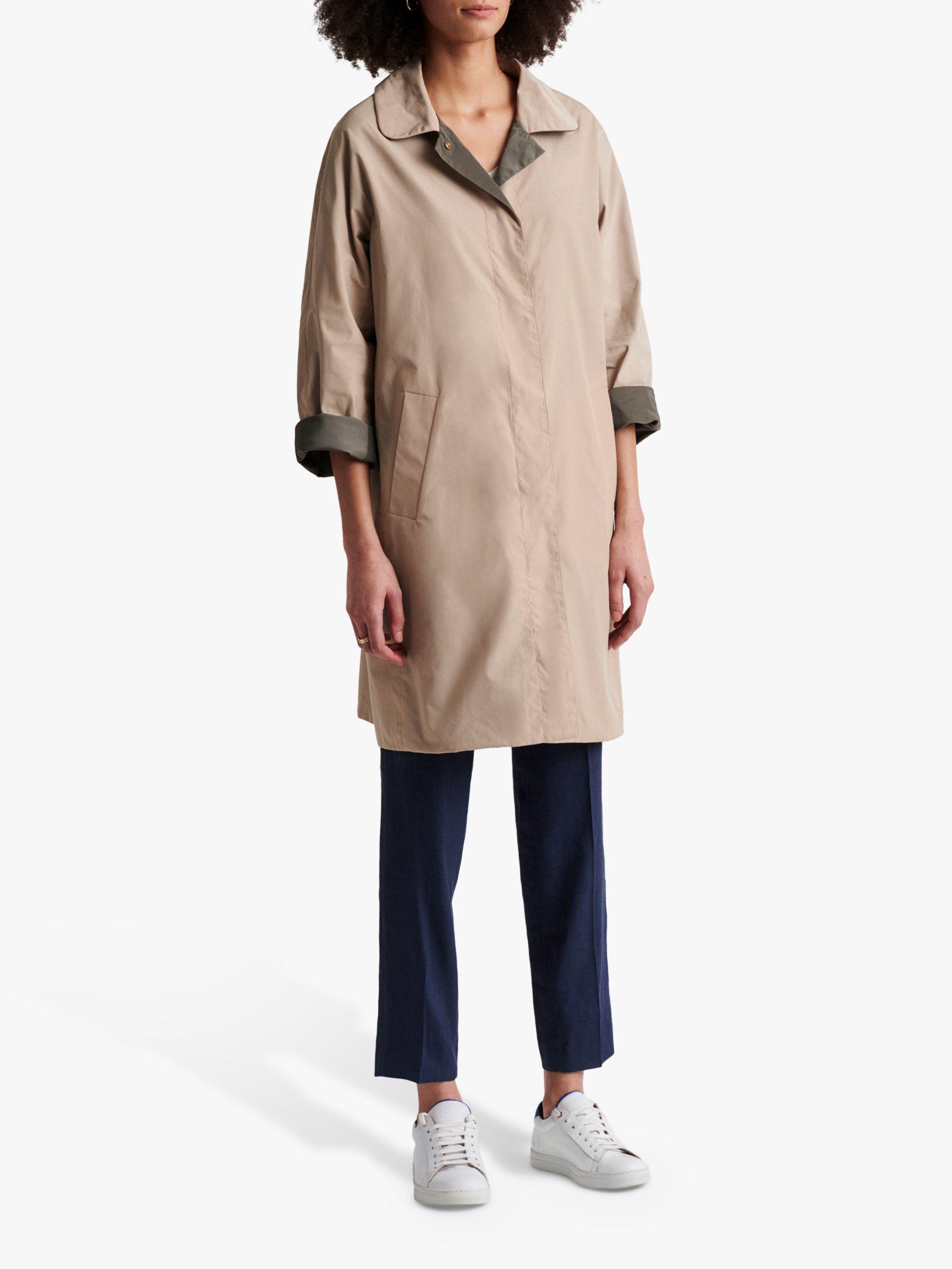 Gerard Darel Gerard Darel Diana Reversible Trench Coat, Beige/Khaki