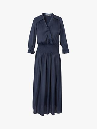 Gerard Darel Swann Frill Collar Midi Dress, Blue