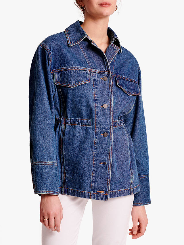 Buy Gerard Darel Ambre Denim Jacket, Blue, 6 Online at johnlewis.com