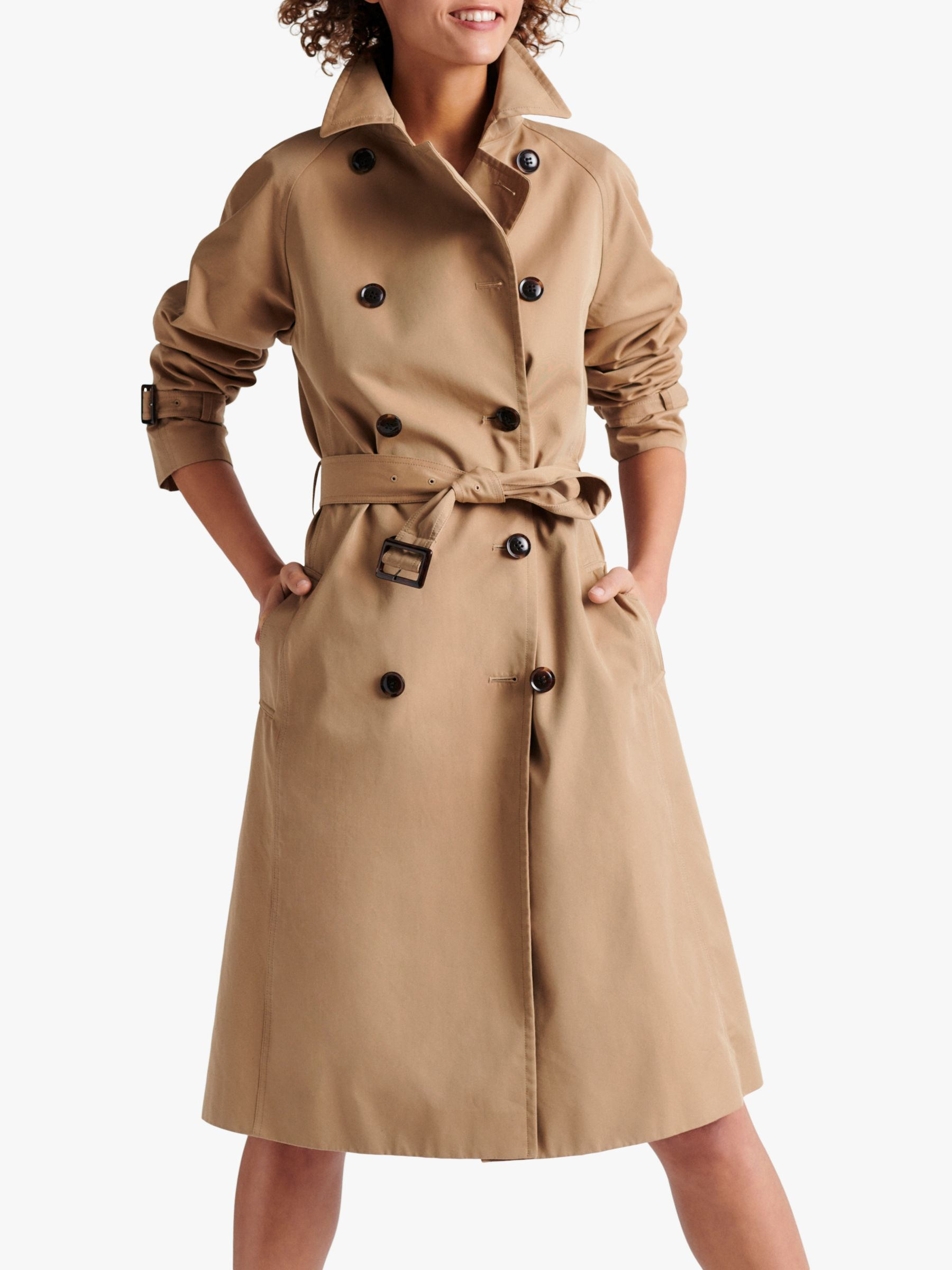 Gerard Darel Domenica Double Breasted Trench Coat, Camel, 6