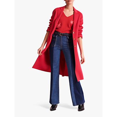 Gerard Darel Rosy Longline Wool Coat, Orange